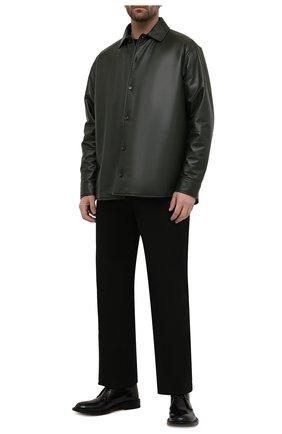 Мужские кожаные ботинки level BOTTEGA VENETA черного цвета, арт. 651317/V10T0 | Фото 2 (Материал внутренний: Натуральная кожа; Подошва: Плоская; Мужское Кросс-КТ: Ботинки-обувь, Дезерты-обувь)