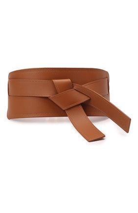 Женский кожаный пояс LOEWE коричневого цвета, арт. S818Y21L04   Фото 1 (Кросс-КТ: Широкие)