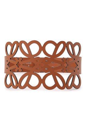 Женский кожаный пояс LOEWE коричневого цвета, арт. S540Y21L12   Фото 1 (Кросс-КТ: Широкие)