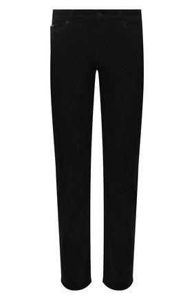Мужские джинсы BOSS темно-синего цвета, арт. 50458138 | Фото 1 (Материал внешний: Хлопок; Длина (брюки, джинсы): Стандартные; Кросс-КТ: Деним; Силуэт М (брюки): Прямые; Стили: Кэжуэл)