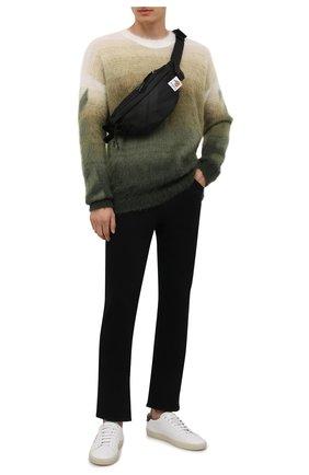Мужские джинсы BOSS темно-синего цвета, арт. 50458138 | Фото 2 (Материал внешний: Хлопок; Длина (брюки, джинсы): Стандартные; Кросс-КТ: Деним; Силуэт М (брюки): Прямые; Стили: Кэжуэл)