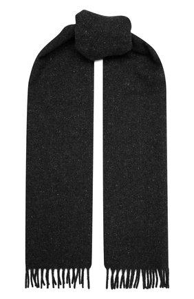 Мужской шарф из шерсти и кашемира BOSS темно-серого цвета, арт. 50458444 | Фото 1 (Материал: Шерсть; Кросс-КТ: шерсть)