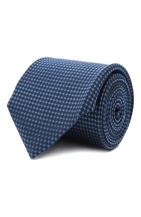 Мужской галстук BOSS синего цвета, арт. 50461448 | Фото 1 (Материал: Текстиль; Принт: С принтом)