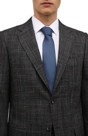 Мужской галстук BOSS синего цвета, арт. 50461448 | Фото 2 (Материал: Текстиль; Принт: С принтом)