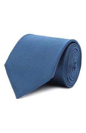 Мужской галстук BOSS голубого цвета, арт. 50461448 | Фото 1 (Материал: Текстиль; Принт: С принтом)