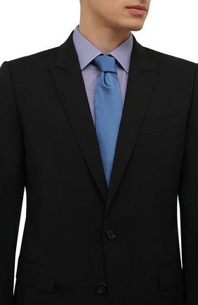 Мужской галстук BOSS голубого цвета, арт. 50461448 | Фото 2 (Материал: Текстиль; Принт: С принтом)