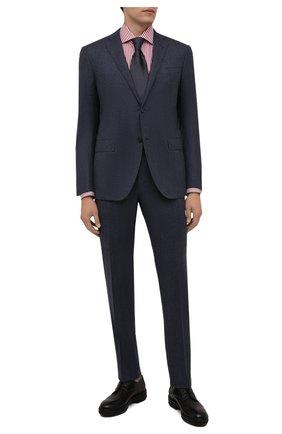 Мужская хлопковая сорочка VAN LAACK бордового цвета, арт. RIVARA-LPTF/151794 | Фото 2 (Материал внешний: Хлопок; Случай: Формальный; Рукава: Длинные; Принт: Полоска; Воротник: Акула; Рубашки М: Regular Fit; Манжеты: На пуговицах; Стили: Классический; Длина (для топов): Стандартные)
