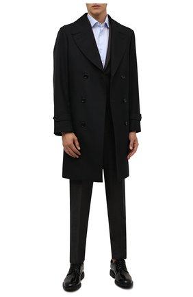 Мужские кожаные дерби HOGAN черного цвета, арт. HXM5760DU60QFY | Фото 2 (Материал внутренний: Натуральная кожа, Текстиль; Стили: Классический)