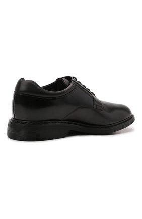 Мужские кожаные дерби HOGAN черного цвета, арт. HXM5760DU60QFY   Фото 4 (Материал внутренний: Натуральная кожа, Текстиль; Стили: Классический)