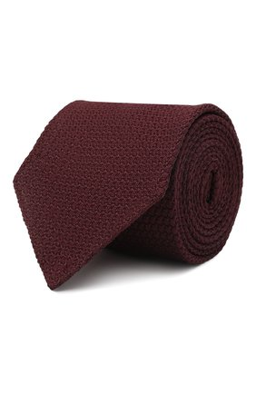Мужской шелковый галстук ETON бордового цвета, арт. A000 30963 | Фото 1 (Материал: Текстиль, Шелк; Принт: Без принта)