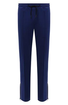 Мужские хлопковые брюки TEE LIBRARY синего цвета, арт. TFK-PT-21 | Фото 1 (Длина (брюки, джинсы): Стандартные; Материал внешний: Хлопок; Случай: Повседневный; Мужское Кросс-КТ: Брюки-трикотаж; Стили: Спорт-шик)