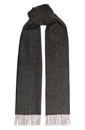 Мужской кашемировый шарф ANDREA CAMPAGNA темно-серого цвета, арт. 632298 | Фото 1 (Материал: Кашемир, Шерсть; Кросс-КТ: кашемир)
