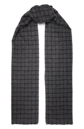 Мужской кашемировый шарф ANDREA CAMPAGNA темно-серого цвета, арт. 632393 | Фото 1 (Материал: Кашемир, Шерсть; Кросс-КТ: кашемир)