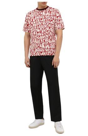 Мужские шерстяные брюки ACNE STUDIOS черного цвета, арт. BK0404   Фото 2 (Материал внешний: Шерсть; Длина (брюки, джинсы): Стандартные; Случай: Повседневный; Стили: Кэжуэл)
