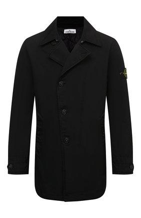 Мужской утепленный плащ STONE ISLAND черного цвета, арт. 751542149 | Фото 1 (Материал подклада: Синтетический материал; Материал внешний: Синтетический материал; Мужское Кросс-КТ: Плащ-верхняя одежда; Длина (верхняя одежда): До середины бедра, Короткие; Стили: Кэжуэл; Рукава: Длинные)