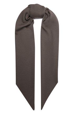 Мужской шерстяной шарф KAZUYUKI KUMAGAI серого цвета, арт. AA12-254 | Фото 1 (Материал: Шерсть; Кросс-КТ: шерсть)