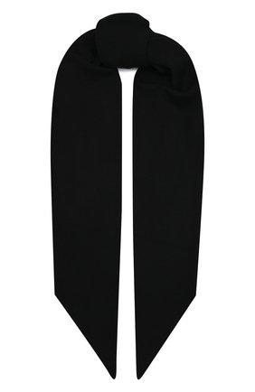 Мужской шерстяной шарф KAZUYUKI KUMAGAI черного цвета, арт. AA12-254 | Фото 1 (Материал: Шерсть; Кросс-КТ: шерсть)