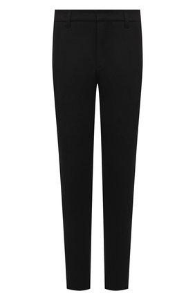 Мужские брюки KAZUYUKI KUMAGAI черного цвета, арт. AP12-247 | Фото 1 (Материал внешний: Синтетический материал, Вискоза; Длина (брюки, джинсы): Стандартные; Случай: Повседневный; Стили: Минимализм)