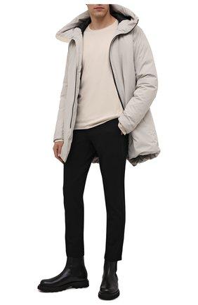 Мужские брюки KAZUYUKI KUMAGAI черного цвета, арт. AP12-247 | Фото 2 (Материал внешний: Синтетический материал, Вискоза; Длина (брюки, джинсы): Стандартные; Случай: Повседневный; Стили: Минимализм)