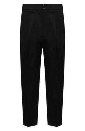 Мужские джинсы KAZUYUKI KUMAGAI черного цвета, арт. KP12-002 | Фото 1 (Длина (брюки, джинсы): Укороченные; Материал внешний: Хлопок; Кросс-КТ: Деним; Силуэт М (брюки): Широкие; Стили: Минимализм)