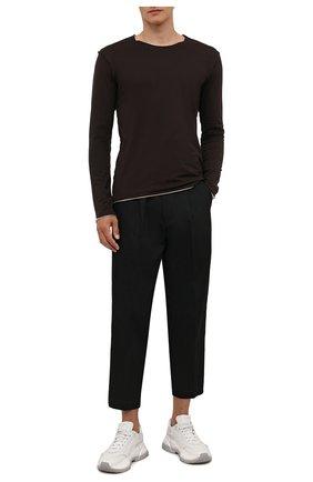 Мужские джинсы KAZUYUKI KUMAGAI черного цвета, арт. KP12-002 | Фото 2 (Длина (брюки, джинсы): Укороченные; Материал внешний: Хлопок; Кросс-КТ: Деним; Силуэт М (брюки): Широкие; Стили: Минимализм)