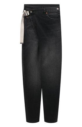 Мужские джинсы KAZUYUKI KUMAGAI черного цвета, арт. KP12-019 | Фото 1 (Длина (брюки, джинсы): Укороченные; Материал внешний: Хлопок; Кросс-КТ: Деним; Силуэт М (брюки): Широкие; Детали: Потертости; Стили: Минимализм)