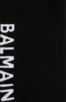 Мужские хлопковые носки BALMAIN черного цвета, арт. BUV060030   Фото 2 (Материал внешний: Хлопок; Кросс-КТ: бельё)