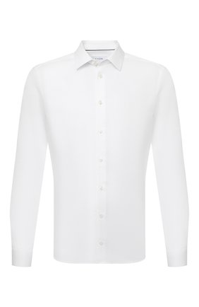 Мужская хлопковая сорочка ETON белого цвета, арт. 1000 02450 | Фото 1 (Рукава: Длинные; Длина (для топов): Стандартные; Материал внешний: Хлопок; Случай: Формальный; Принт: Однотонные; Воротник: Кент; Рубашки М: Super Slim Fit; Манжеты: На пуговицах; Стили: Классический)