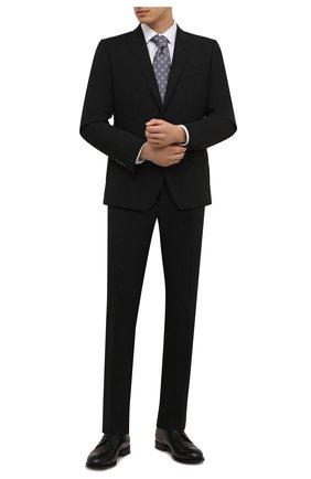 Мужская хлопковая сорочка ETON белого цвета, арт. 1000 02450 | Фото 2 (Рукава: Длинные; Длина (для топов): Стандартные; Материал внешний: Хлопок; Случай: Формальный; Принт: Однотонные; Воротник: Кент; Рубашки М: Super Slim Fit; Манжеты: На пуговицах; Стили: Классический)