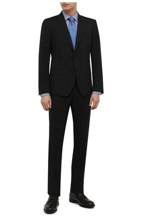 Мужская хлопковая сорочка ETON синего цвета, арт. 1000 02450 | Фото 2 (Материал внешний: Хлопок; Длина (для топов): Стандартные; Рукава: Длинные; Случай: Формальный; Принт: Однотонные; Воротник: Кент; Рубашки М: Super Slim Fit; Манжеты: На пуговицах; Стили: Классический)