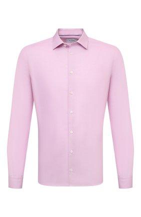 Мужская хлопковая сорочка ETON розового цвета, арт. 1000 02450 | Фото 1 (Длина (для топов): Стандартные; Рукава: Длинные; Материал внешний: Хлопок; Случай: Формальный; Принт: Однотонные; Воротник: Кент; Рубашки М: Super Slim Fit; Манжеты: На пуговицах; Стили: Классический)