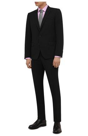 Мужская хлопковая сорочка ETON розового цвета, арт. 1000 02450 | Фото 2 (Длина (для топов): Стандартные; Рукава: Длинные; Материал внешний: Хлопок; Случай: Формальный; Принт: Однотонные; Воротник: Кент; Рубашки М: Super Slim Fit; Манжеты: На пуговицах; Стили: Классический)