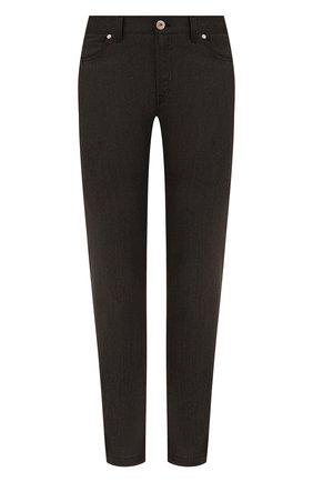 Мужские брюки из шерсти и хлопка BRIONI темно-коричневого цвета, арт. SPLQ0L/01A4N/CHAM0NIX | Фото 1 (Материал внешний: Шерсть, Хлопок; Случай: Повседневный; Стили: Кэжуэл; Длина (брюки, джинсы): Стандартные)