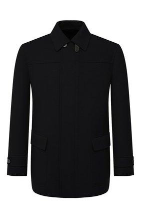 Мужская кашемировая куртка BRIONI черного цвета, арт. SHN50L/01349 | Фото 1 (Материал внешний: Шерсть, Кашемир; Материал подклада: Купро; Кросс-КТ: Куртка; Мужское Кросс-КТ: шерсть и кашемир; Рукава: Длинные; Длина (верхняя одежда): До середины бедра; Стили: Кэжуэл)