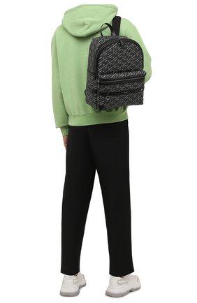 Мужской рюкзак VERSACE серого цвета, арт. 1000745/1A01444 | Фото 2 (Материал: Экокожа)