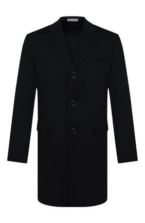 Мужской кашемировое пальто CORNELIANI черного цвета, арт. 881403-1812098/00 | Фото 1 (Материал подклада: Вискоза; Материал внешний: Шерсть, Кашемир; Мужское Кросс-КТ: пальто-верхняя одежда; Стили: Классический; Длина (верхняя одежда): До середины бедра; Рукава: Длинные)