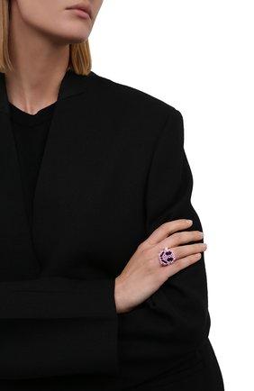 Женское кольцо смайл HIAYNDERFYT розового цвета, арт. 1-1PSMP | Фото 2 (Материал: Стекло)