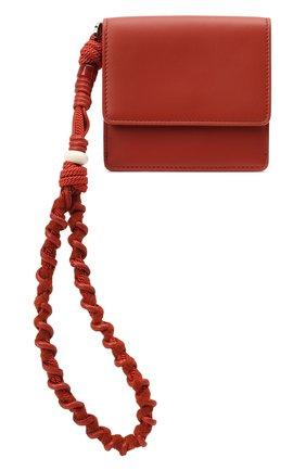 Женские кожаное портмоне scoobydoo LORO PIANA красного цвета, арт. FAL8180 | Фото 1