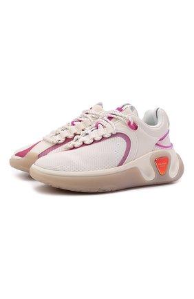 Женские кроссовки BALMAIN белого цвета, арт. WN1VI549/TRLH | Фото 1 (Материал внутренний: Натуральная кожа, Текстиль; Подошва: Платформа; Материал внешний: Текстиль)