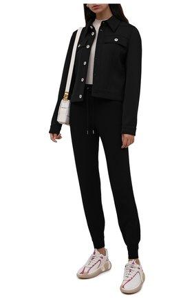 Женские кроссовки BALMAIN белого цвета, арт. WN1VI549/TRLH | Фото 2 (Материал внутренний: Натуральная кожа, Текстиль; Подошва: Платформа; Материал внешний: Текстиль)