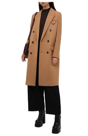 Женские кожаные ботильоны VERSACE черного цвета, арт. 1001783/DVT2P   Фото 2 (Каблук высота: Высокий; Подошва: Платформа; Материал внутренний: Натуральная кожа; Каблук тип: Устойчивый)