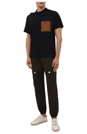 Мужская хлопковая футболка JACQUEMUS черного цвета, арт. 216JS004-2290 | Фото 2 (Материал внешний: Хлопок; Рукава: Короткие; Принт: Без принта; Стили: Минимализм; Длина (для топов): Стандартные)