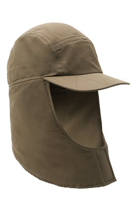Мужская шапка-балаклава la cagoule JACQUEMUS хаки цвета, арт. 216AC203-5050 | Фото 1 (Материал: Синтетический материал, Хлопок, Текстиль)