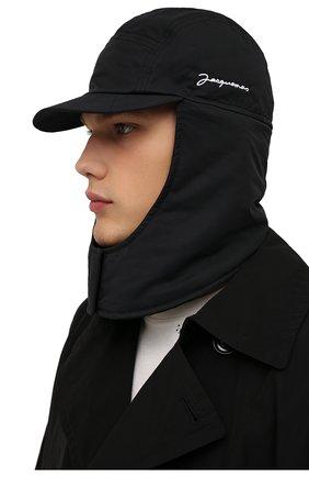 Мужская шапка-балаклава la cagoule JACQUEMUS черного цвета, арт. 216AC203-5050 | Фото 2 (Материал: Синтетический материал, Хлопок, Текстиль)