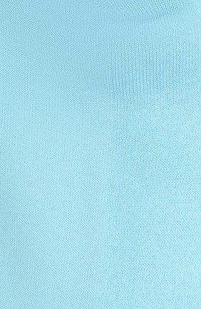 Мужские хлопковые носки JACQUEMUS бирюзового цвета, арт. 216AC003-5000   Фото 2 (Материал внешний: Хлопок; Кросс-КТ: бельё)