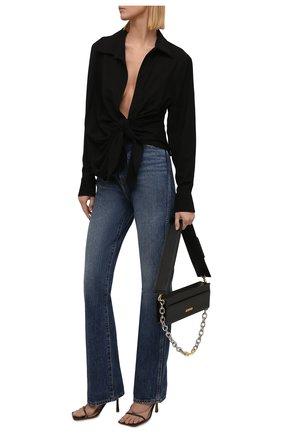 Женская блузка из вискозы JACQUEMUS черного цвета, арт. 213SH002-1020 | Фото 2 (Рукава: Длинные; Длина (для топов): Стандартные; Материал внешний: Вискоза; Женское Кросс-КТ: Блуза-одежда; Принт: Без принта; Стили: Минимализм)