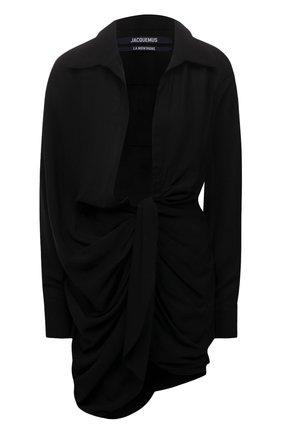 Платье из вискозы и шерсти | Фото №1