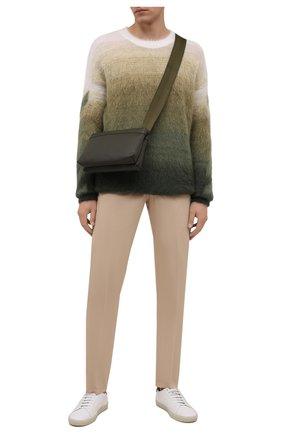 Мужские брюки из хлопка и шелка MARCO PESCAROLO бежевого цвета, арт. NERANOM18 4300 MP12   Фото 2 (Материал внешний: Хлопок; Длина (брюки, джинсы): Стандартные; Случай: Повседневный; Стили: Кэжуэл)