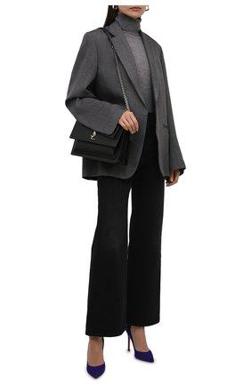 Женские замшевые туфли GIANVITO ROSSI синего цвета, арт. G28470.15RIC.CAMINDI | Фото 2 (Материал внутренний: Натуральная кожа; Каблук высота: Высокий; Подошва: Плоская; Каблук тип: Шпилька; Материал внешний: Замша)