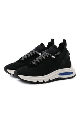 Мужские текстильные кроссовки run ds2 DSQUARED2 черного цвета, арт. SNM0205 59202581 | Фото 1 (Материал внешний: Текстиль; Материал внутренний: Текстиль, Натуральная кожа; Подошва: Массивная; Стили: Гранж)